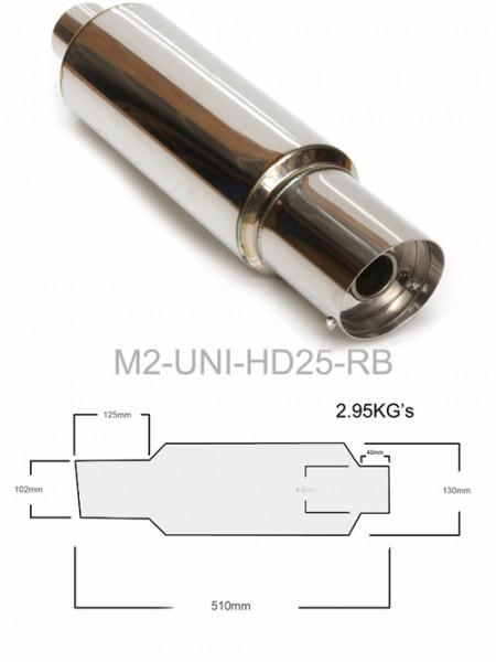 """M2 Motorsport Universal Endschalldämpfer MUFFLER 2,5"""""""