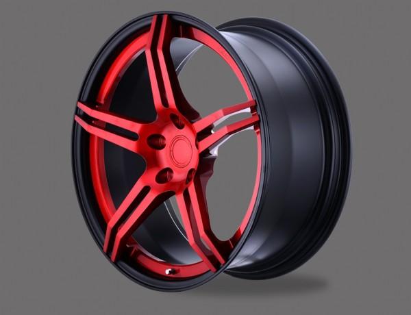 """D2 Racing 19"""" geschmiedete 2-teilige Premium Alufelge ZS-02"""