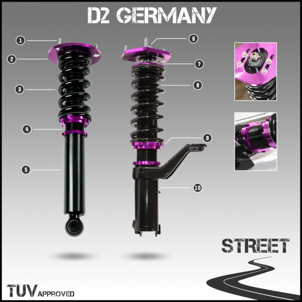 D2 Germany Gewindefahrwerk STREET - Infinity Q50