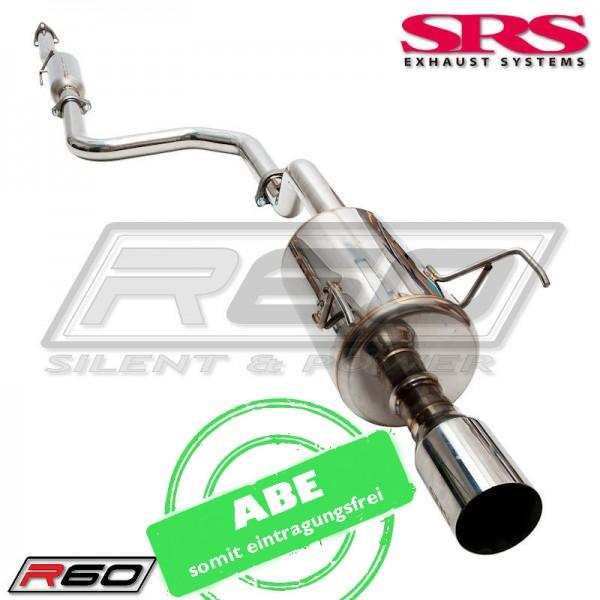 SRS Exhaust R60 Auspuffanlage ab Kat - Honda Integra DC2 mit ABE