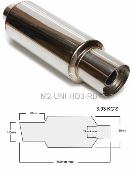 """M2 Motorsport Universal Endschalldämpfer MUFFLER 3"""""""