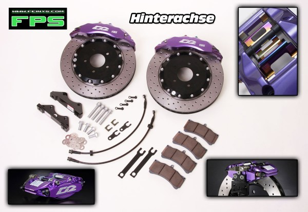 D2 Racing Big brake kit Hinterachse 2/4/6 Kolben - Honda Civic FN2 Type R