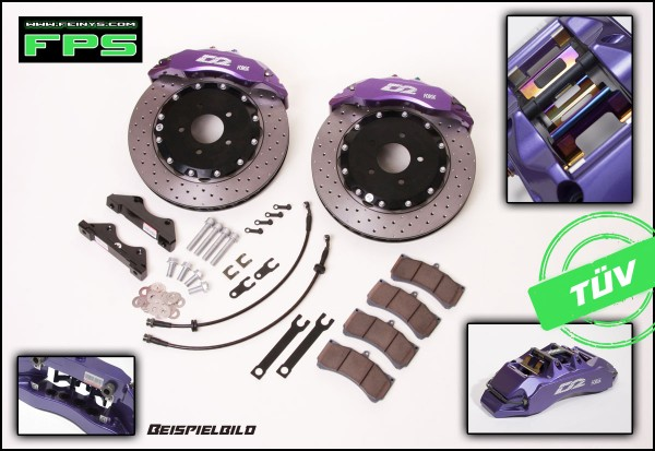 D2 Racing Big brake kit 4/6/8 Kolben - Mitsubishi Evo 10
