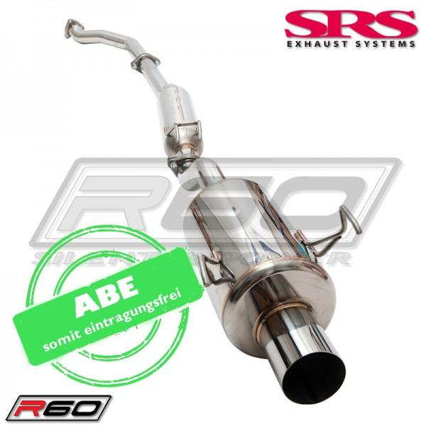 SRS Exhaust R70 Auspuffanlage ab Kat - Honda Civic 01-05 Type R EP3 mit ABE