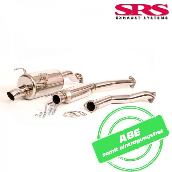 SRS Exhaust R70 Auspuffanlage ab Kat DOLPHIN - Honda Civic 01-05 Type R EP3 mit ABE