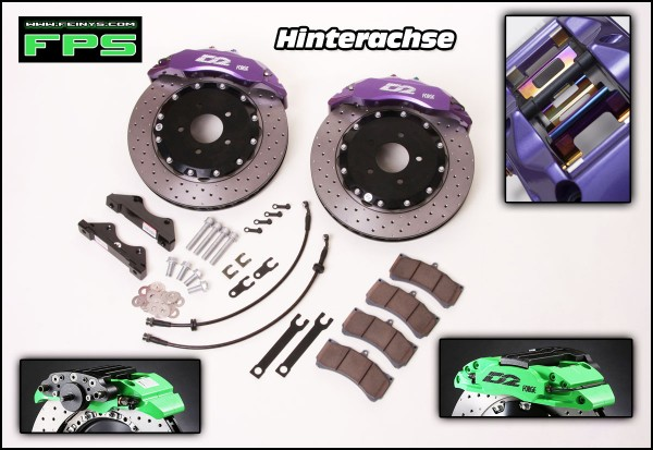 D2 Racing Big brake kit Hinterachse 4/6 Kolben - Mazda CX5 KE 2011-17 mit elektr. Handbremse