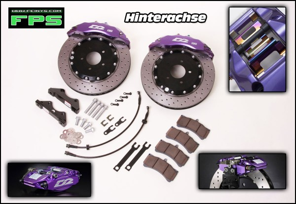 D2 Racing Big brake kit Hinterachse 4/6 Kolben - Mazda RX7 FD3S 92-02