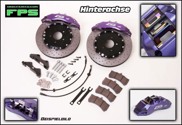 D2 Racing Big brake kit Hinterachse 4/6/8 Kolben - Nissan Skyline R34